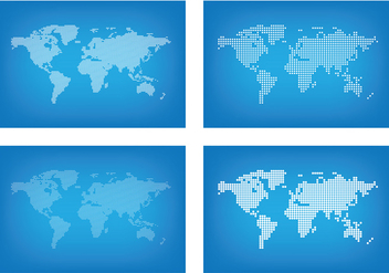 Graphic World Map Dots - Kostenloses vector #431123