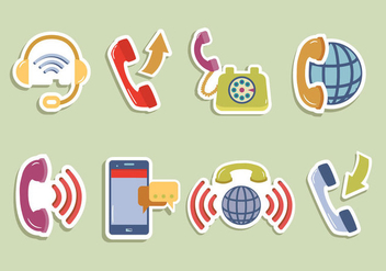 Internet Telephone Digital Communication Vector - Free vector #431173