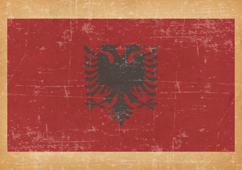 Flag of Albania on Grunge Background - vector gratuit #431193
