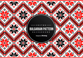 Bulgarian Embroidery Pattern Background - Free vector #431233