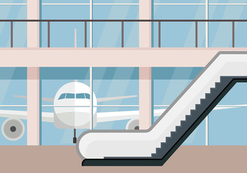 Escalator Airport Free Vector - бесплатный vector #431313