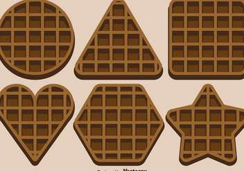 Vector Set Of Belgium Waffles - бесплатный vector #431323