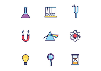 Science Class Icons - Free vector #431473