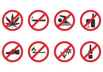 Vector Prohibited Signs - Kostenloses vector #431483