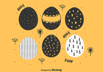 Hand Drawn Easter Eggs - Free vector #431493