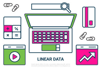 Free Linear Digital Data Vector Elements - vector #431513 gratis