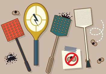Pack of Fly Swatter Vectors - бесплатный vector #431593