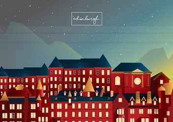 Edinburgh Old Town Vector Art - бесплатный vector #431603