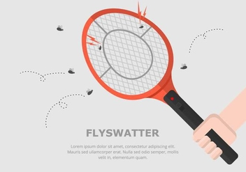 Fly Swatter Background - vector gratuit #431623