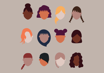 Hairstyles For Girls - vector gratuit #431633