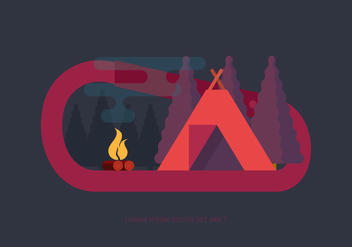 Camp Carabiner Illustration - Free vector #431663