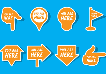 You Are Here Sign - vector gratuit #431683