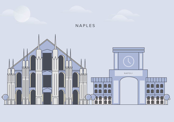 Naples City Landmarks Vector - бесплатный vector #431713