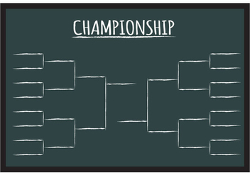 Championship Bracket on board - vector gratuit #431723