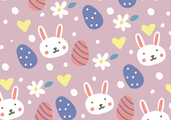 Doodled Easter Background - vector #431783 gratis
