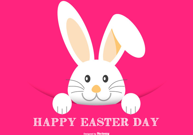 Cute Easter Bunny Illustration - Free vector #431803