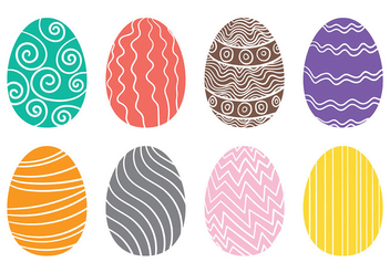 Drawn Easter Egg Icons Vector - Free vector #431813