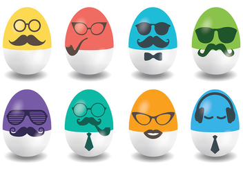 Hipster Easter Vector Icons - бесплатный vector #431833