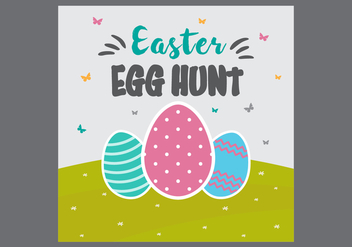 Free Easter Egg Hunt Card Vector - vector gratuit #431843
