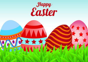 Easter Egg Background Vector - vector #431853 gratis