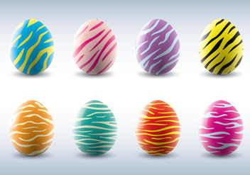 Animal Stripe Vector Easter Eggs - бесплатный vector #431863