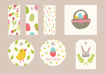 Colorful Easter Tags - vector gratuit #431873