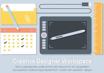 Free Flat Workstation Vector Elements - Kostenloses vector #431893