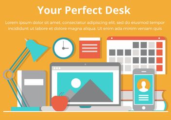 Free Desktop Vector Flat Design Illustration - Free vector #431933