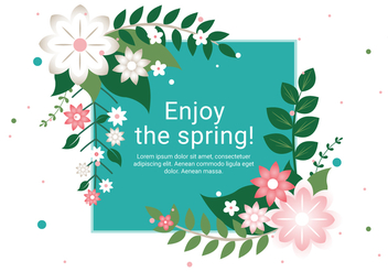 Free Spring Season Vector Background - Kostenloses vector #431953