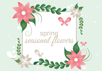 Free Spring Season Decoration Vector Background - Free vector #431963
