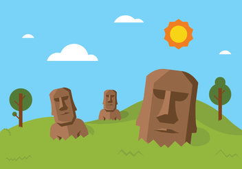 Easter Island Vector Background - бесплатный vector #432023