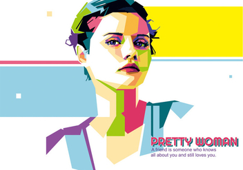 Pretty Woman vector WPAP - Free vector #432043