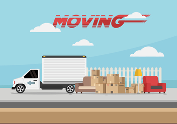 Moving Van Vector Illustration - бесплатный vector #432103
