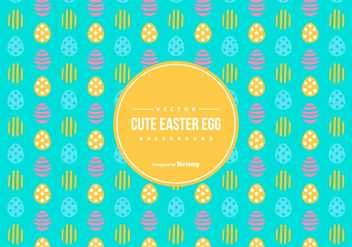 Cute Easter Egg Pattern Background - Free vector #432113