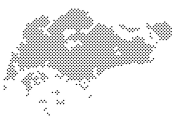 Dotted Singapore Map Vector - vector gratuit #432123