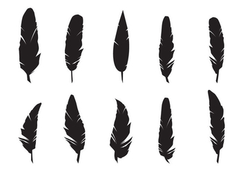 Feathers Silhouette Vector Set - бесплатный vector #432203