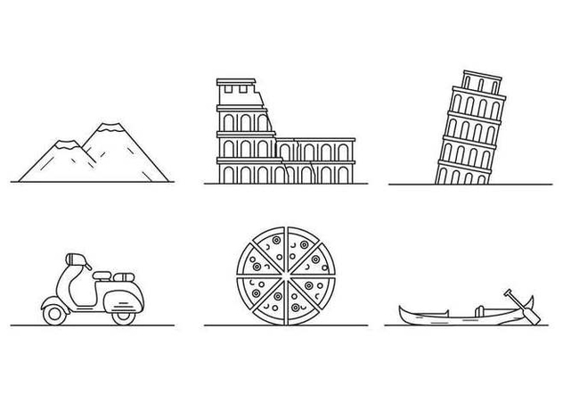 Free Iconic Italy Vectors - Free vector #432233