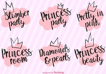 Vector Princess Party Phrases - Free vector #432243