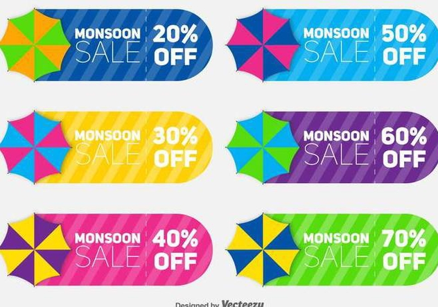 Set Of Coupon Sale Vectors - Free vector #432253