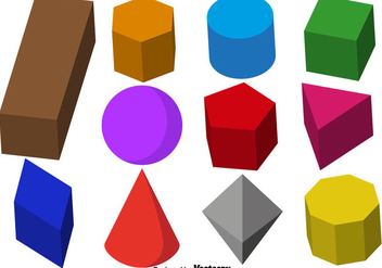 Vector Collection Of 3d Prisms - Free vector #432263