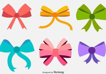 Vector Hair Bows Flat Icons - Kostenloses vector #432273