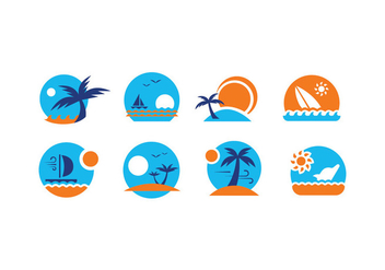 Summer Vector Emblems - бесплатный vector #432353