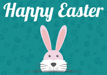 Easter Flat Background Vector - Free vector #432423