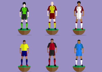 Subbuteo Game Players Vector Collection - Kostenloses vector #432453
