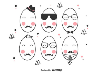 Hipster Easter Egg Vector - Kostenloses vector #432463