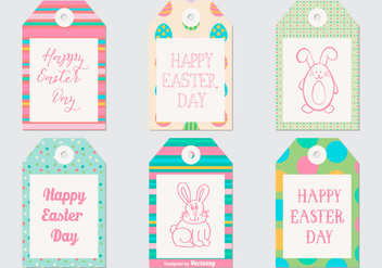 Cute Easter Gift Tag Collection - vector gratuit #432483