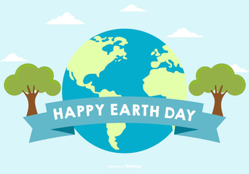 Happy Earth Day Illustration - Free vector #432493