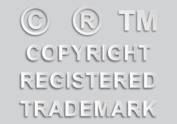 Copyright and Trademark Sign Vectors - vector #432593 gratis