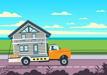 Home On Moving Truck Vector - бесплатный vector #432623