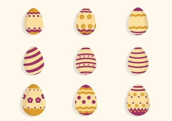 Flat Easter Egg Vectors - бесплатный vector #432633